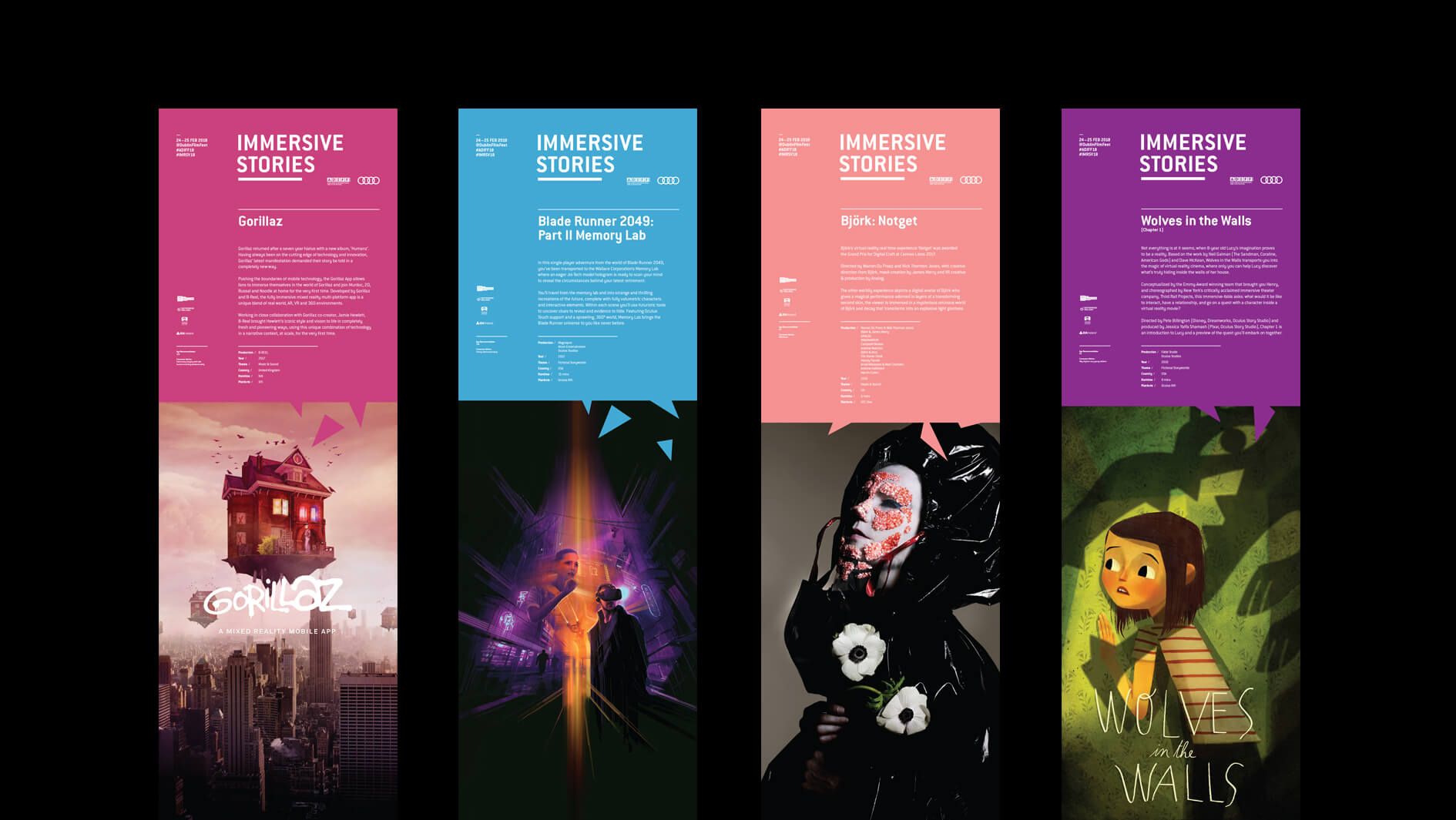 DIFF / Immersive Stories posters