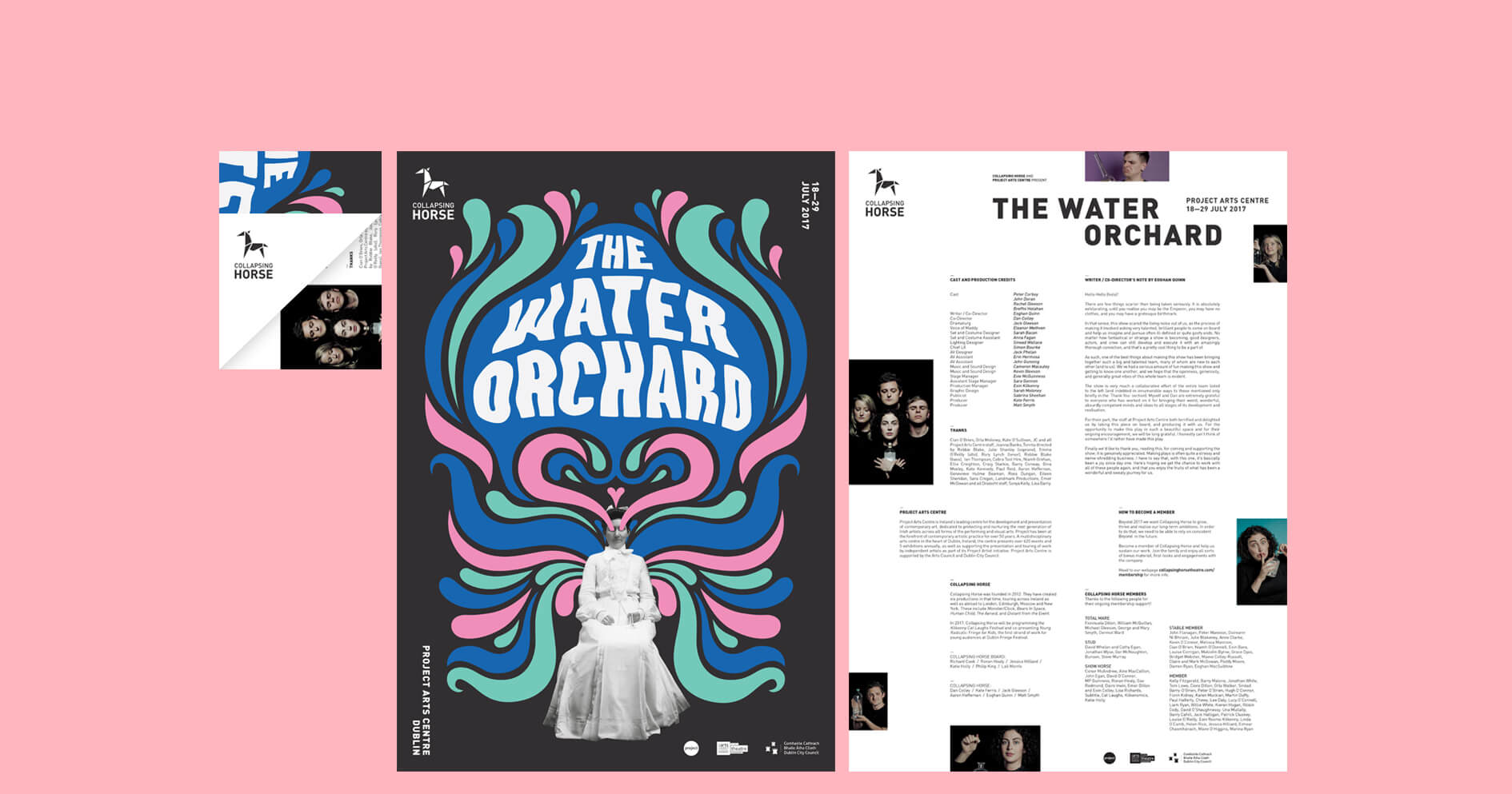 Collapsing Horse / The Water Orchard – Poster/ Programme